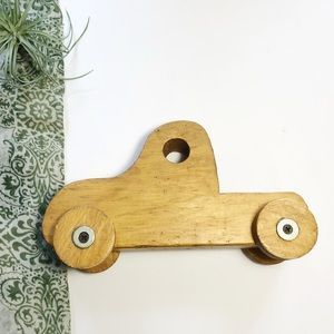 Vtg Handmade Wood Truck Eco Toy Kids Decor